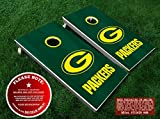 Green Bay Packers Cornhole Decals | GOLDEN YELLOW | Six (6) DIY Vinyl Stickers for Cornhole Board Building and Decorating | Decal Sticker Hub
