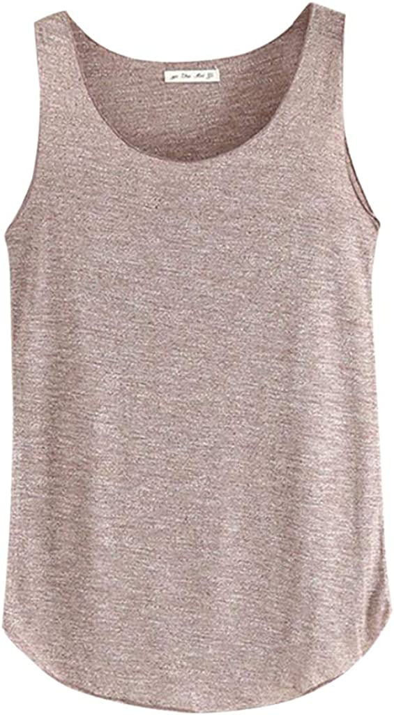 Womens Solid Strappy Flax Tanks Top☀☀ Button Down V Neck Lace Loose Casual Sleeveless Shirts