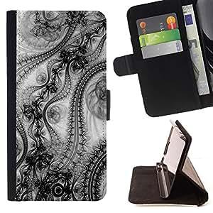 - FASHION INSPIRATION WALLPAPER ART PATTERN DESIGN - - Prima caja de la PU billetera de cuero con ranuras para tarjetas, efectivo desmontable correa para l Funny HouseFOR Samsung Galaxy S6
