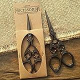 Vintage Sewing Scissors - Vintage Stainless Steel Vacuum Titanium Cross Stitch Sewing Antique Stitch Sewing - Embroidery Scissors - Vintage Embroidery Scissors
