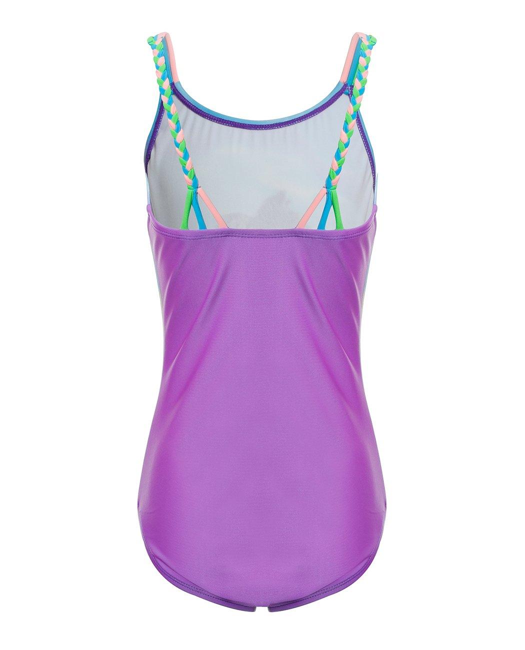iDrawl Cute Zebra One Piece Beach Sport Swimsuit for Girls by iDrawl (Image #2)
