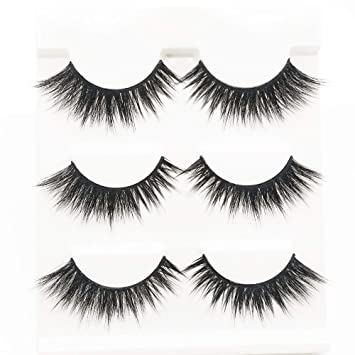 6f7a10b164c Natural 3D False Eyelashes Handmade Fake Eye Lashes Natural Look For Makeup  Eyelashes Extension 3 Pair