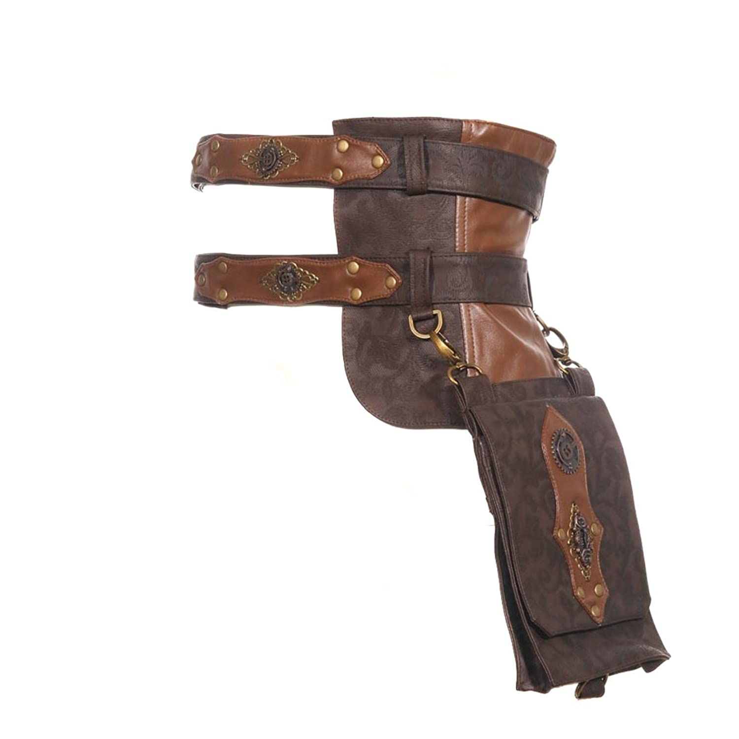 Steampunk Accessories | Goggles, Gears, Glasses, Guns, Mask Steampunk Messenger Bags $52.22 AT vintagedancer.com
