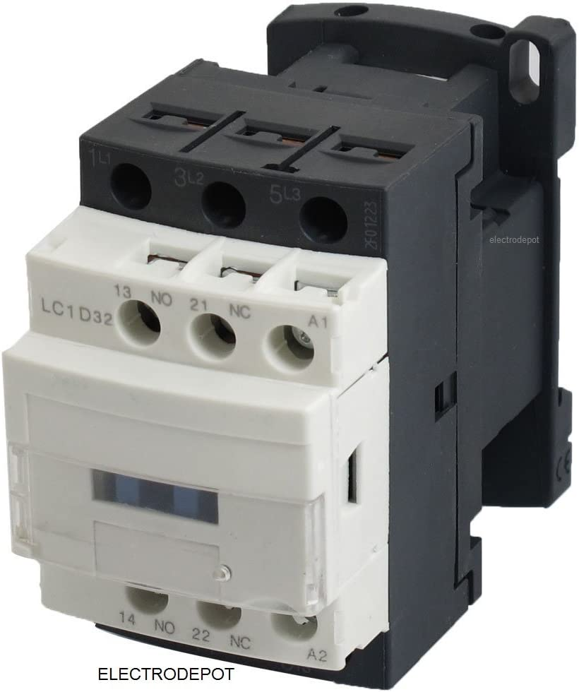 Lighting 32A Coil 120V 20 Amp Motor Control AC Contactor 18A 3 Phase 3-Pole