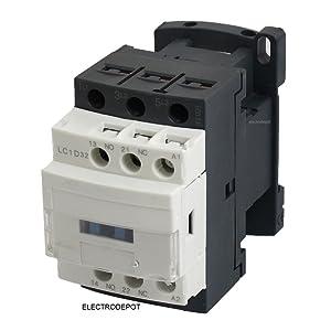 30A Contactor 3 Pole, 110/120V Coil, Motor Load 32A, Lighting 40A, 50A, 600V IEC DIN