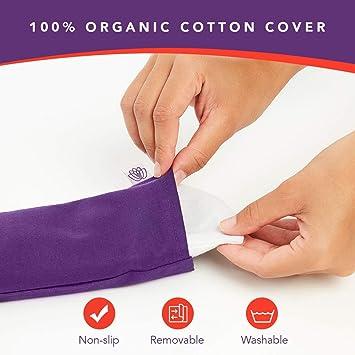 Amazon.com: Cojín para ojos de lino de lavanda 100% algodón ...