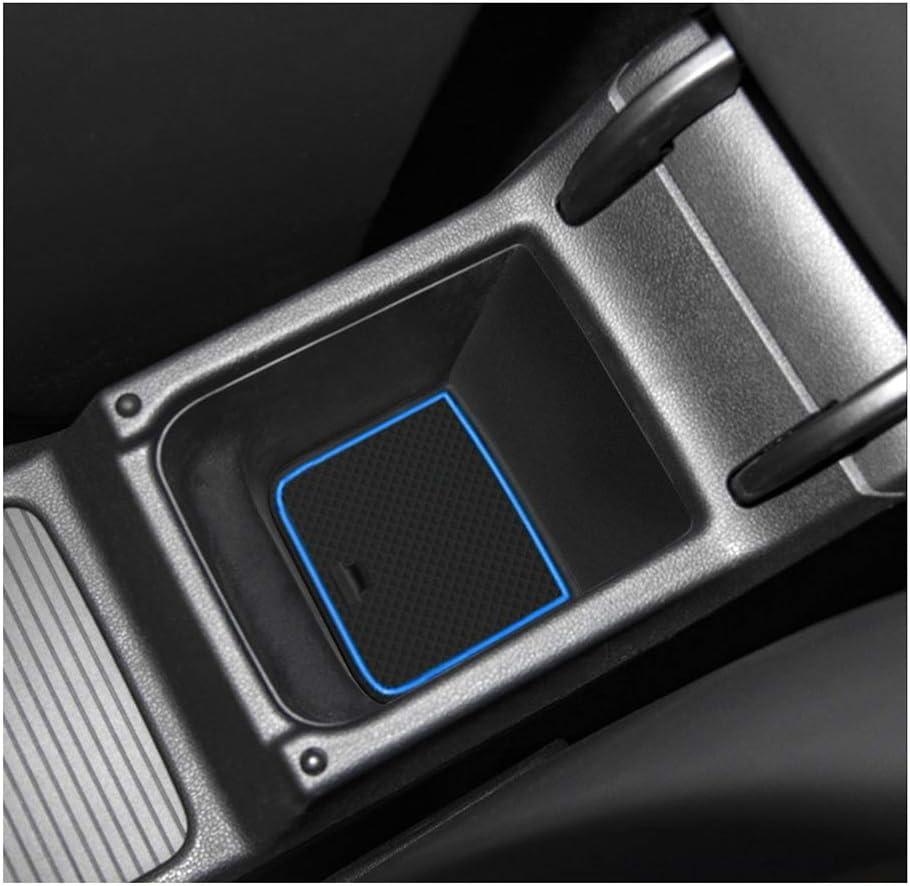 Lfotpp Golf 8 Mk8 Gti Gtd Gte 2020 Gummimatten Getränkehalter Innentür Matten Mittelkonsole Antirutschmatten Türschlitzmatte Auto Zubehör 10 Stücke Blau Auto