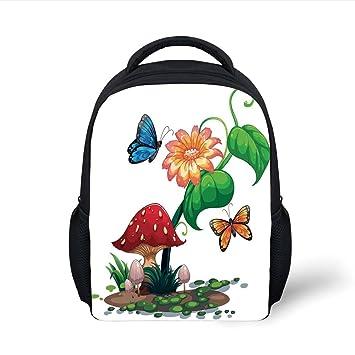 Amazon.com  iPrint Kids School Backpack Mushroom Decor 4eb214309e239