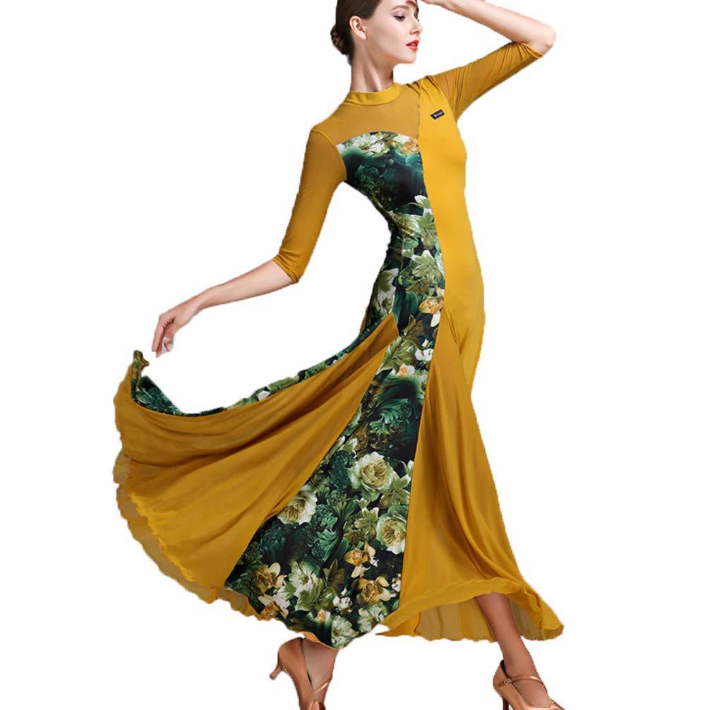 JRYYUE JRYYUE JRYYUE Moderner Tanzrock Kleider üben für Frauen Ballsaal Tanzkleider Lange ärmel Walzer Tango Tanzen Performance Kleidung 2XL B07PLBZVQD Bekleidung Saisonaler heißer Verkauf 6a6ebb