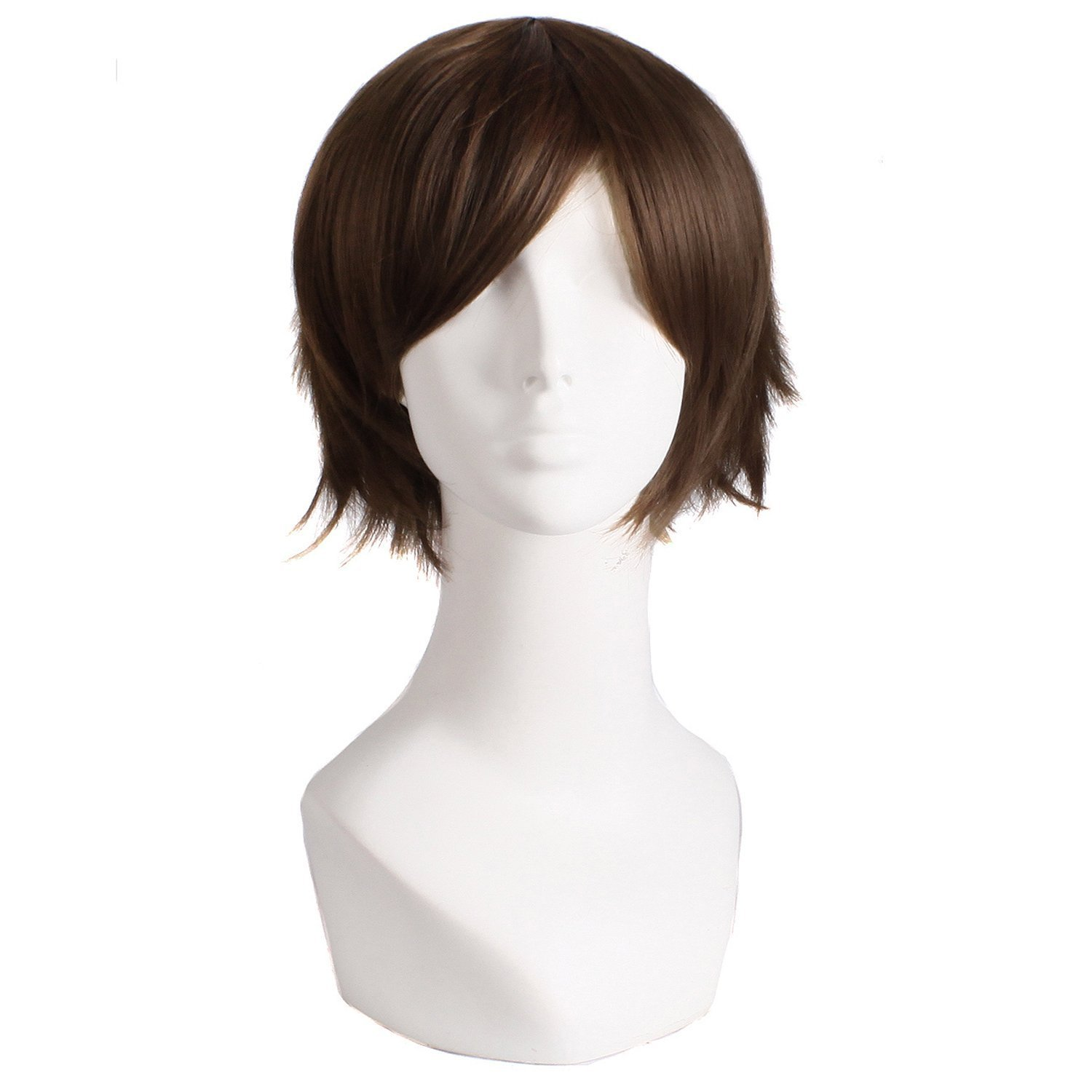 MapofBeauty Men's Short Straight Wig Cosplay Costume Wig (Red)