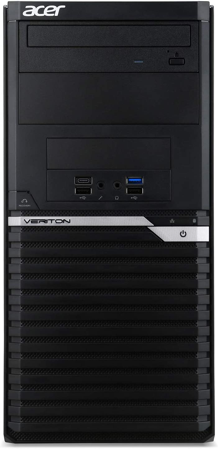 Acer Veriton VM4660G-I3810H2 Desktop, 8th Gen Intel Core i3-8100, 8GB DDR4, 1TB HDD, 16X DVD, Windows 10 Professional