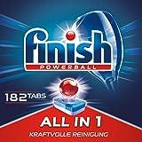 Finish 亮碟 All in 1 多效合一 洗碗机洗涤块 3个月用量 超值装 1包 (1 x 182块)