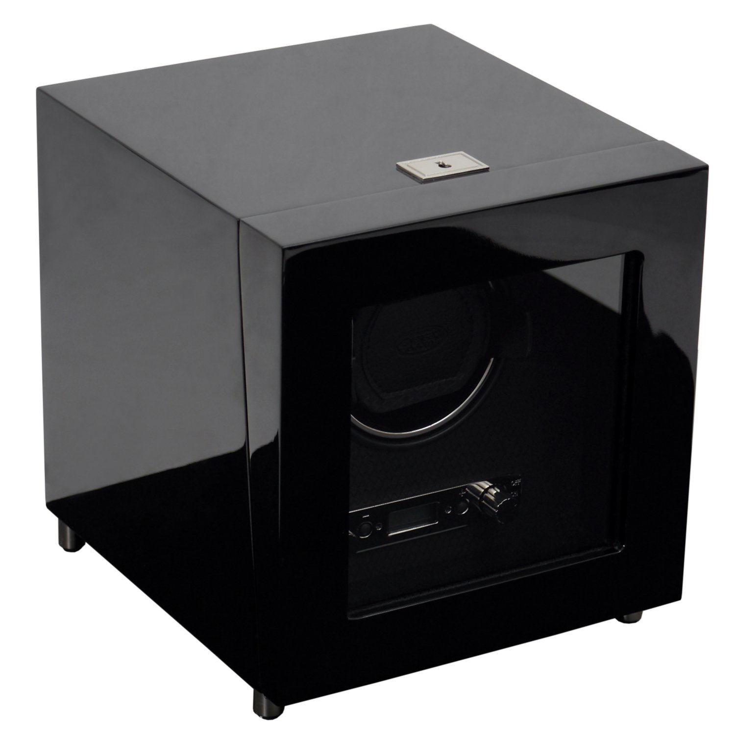 WOLF 454470 Savoy Single Watch Winder with Cover, Black