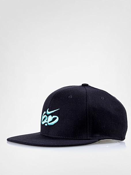 Nike 6, 0 para hombre Fitted Cap gorro Peak visera plana Skate gorra de béisbol negro nuevo, hombre, Black / Marine: Amazon.es: Ropa y accesorios