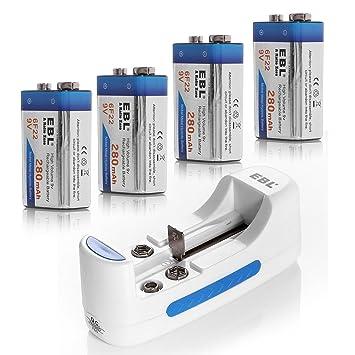 Amazon.com: EBL Cargador de batería universal para AA AAA 9 ...