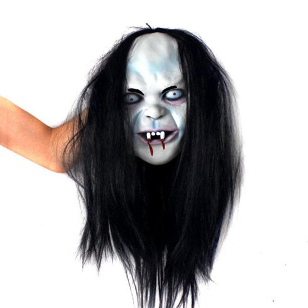JTWJ Halloween Ball Requisiten Gehobene Latex Geistermaske