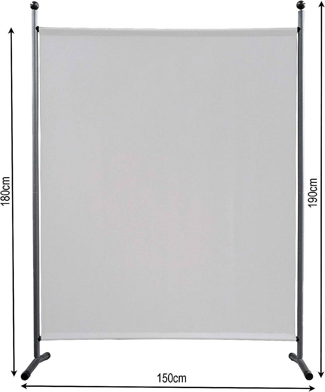 QUICK STAR Paravent 150 x 190 cm tela separador de ambientes partición jardín grande Biombo tabique balcón privacidad Blanco: Amazon.es: Hogar