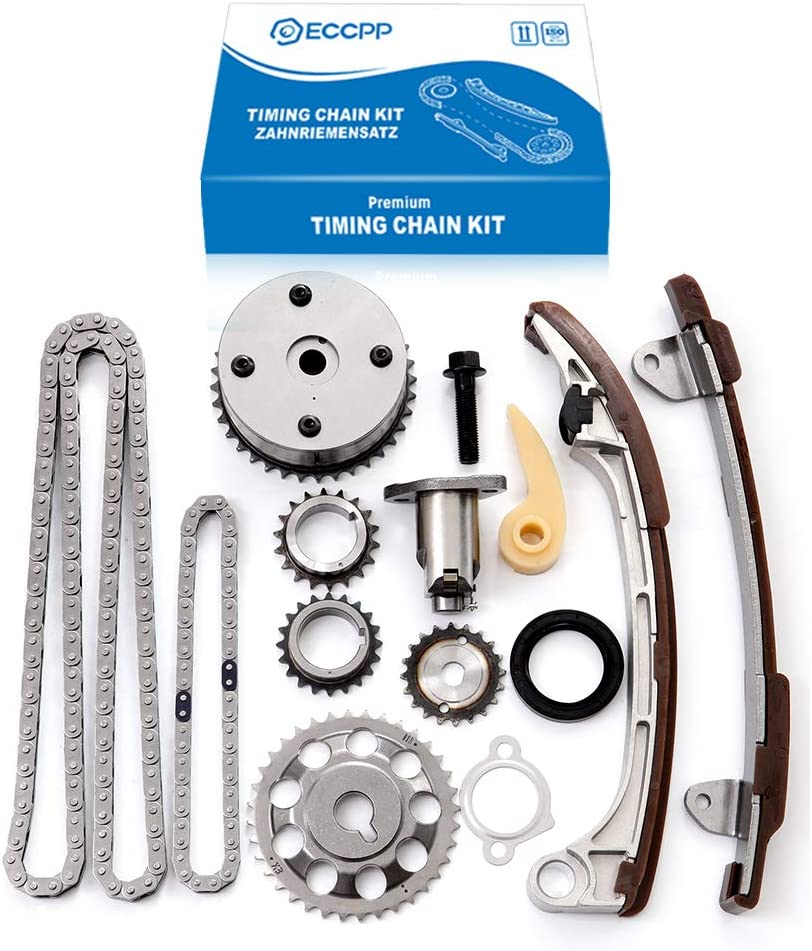 ECCPP Timing Chain Kit for 2001-2011 Toyota CAMRY COROLLA XRS HIGHLANDER RAV4 Scion tc xb Pontiac VIBE 2.0L 2.4L DOHC 16v 1AZFE 2AZFE