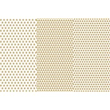 """Deco Art Decoupage Paper (3 Pack), 12"""" by 16"""", Gold Basics"""