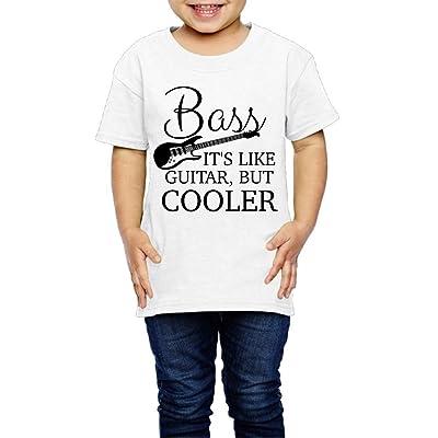 TOLDER-AW2 Bass It's Like Guitar But Cooler Boys Girls Tops Short Sleeve T-Shirt (2-6 Years)