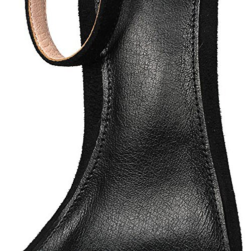 Alto Tacón Palabra Zapatos Cuero Abierta Sandalias Para Comodín Altos Black Con Simple De Tacones Mujeres Vestidos Dkfjki Owq600