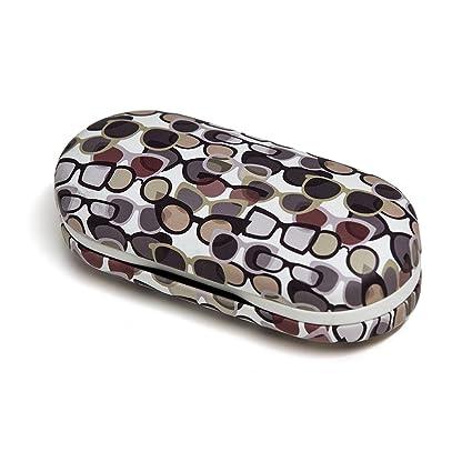 Balvi - Twin Estuche para Gafas y lentillas Blanco con Espejo Incorporado. Incluye Recipiente para lentillas, Dos frascos para líquidos y Pinzas.