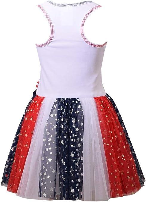 Chambray Americana Tutu Dress Bonnie Jean Girls 4th of July Dress