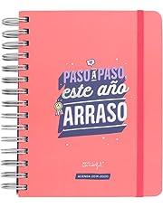 """Mr. Wonderful 2019/20 Diario - Agenda Rotu """"Paso a Paso este Año Arraso"""", 15 x 19,5 x 2,5 cm, 368 Páginas, Rosa"""