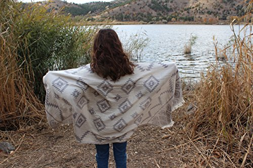Bersuse 100% Cotton Teotihuacan Dua Dual-Layer Handloom Turkish Towel-37X70 Inches, Silver Grey