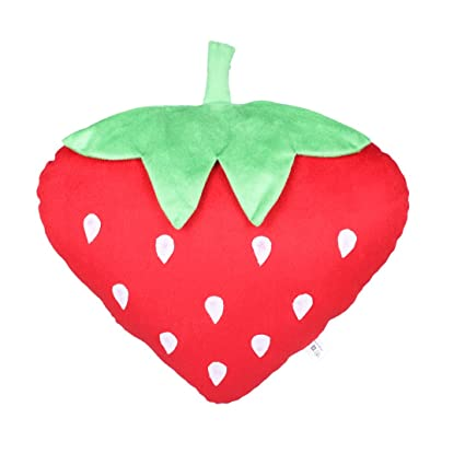 Ultra Soft Strawberry Fruit Cushion Pillow, 15 inches