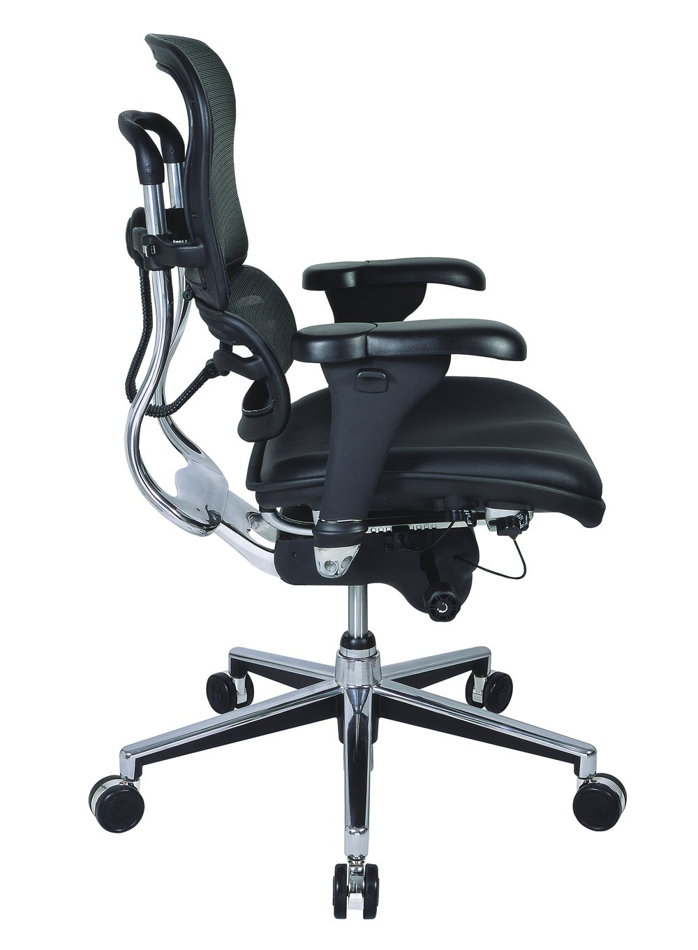 Amazon.com: Eurotech Mid Back Black Mesh Office Chair - Ergohuman ...