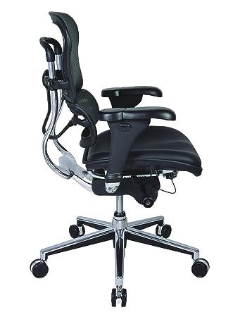 eurotech mid back black mesh office chair ergohuman lem6erglo - Ergohuman