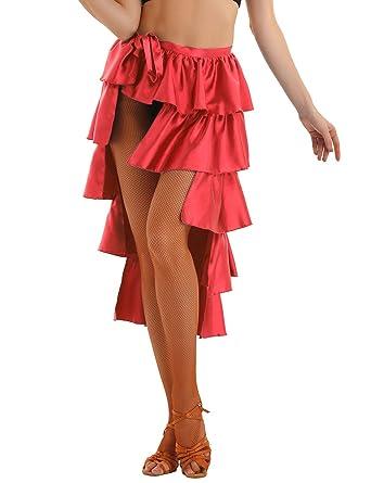 MSemis Falda Flamenca Sevillana para Mujer Falda Volantes ...