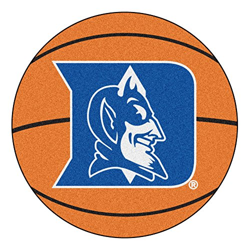 NCAA Duke University Blue Devils Basketball Shaped Mat Area Rug