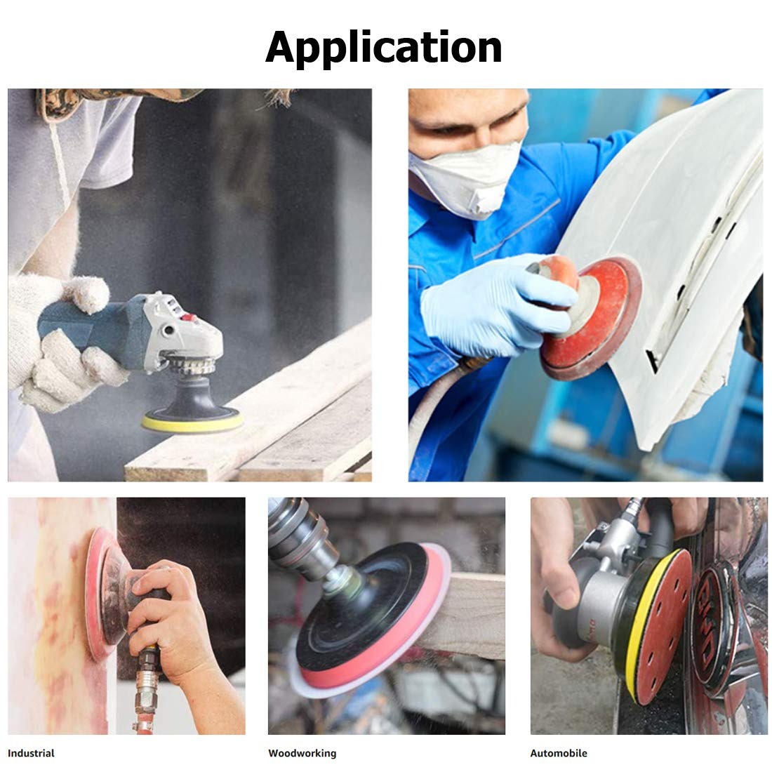 Sandpaper Metal Sanding 5 Inch Hook and Loop Sanding Discs for Wood Furniture Finishing 110pcs Sand Paper Variety Pack Automotive Polishing 40 60 80 100 120 240 320 400 600 800 1000 Grits