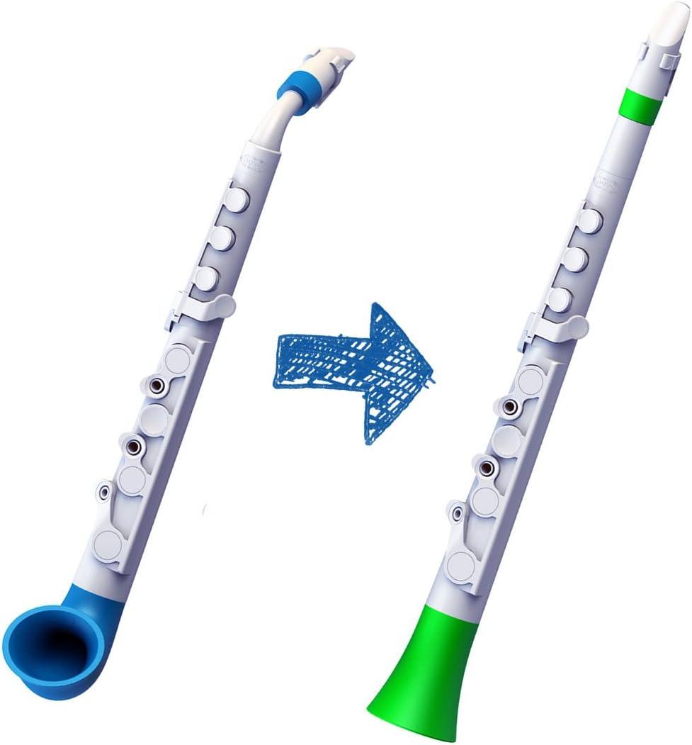Nuvo Instrumental N515SWBL White with Blue Trim Straighten Your jSax Kit