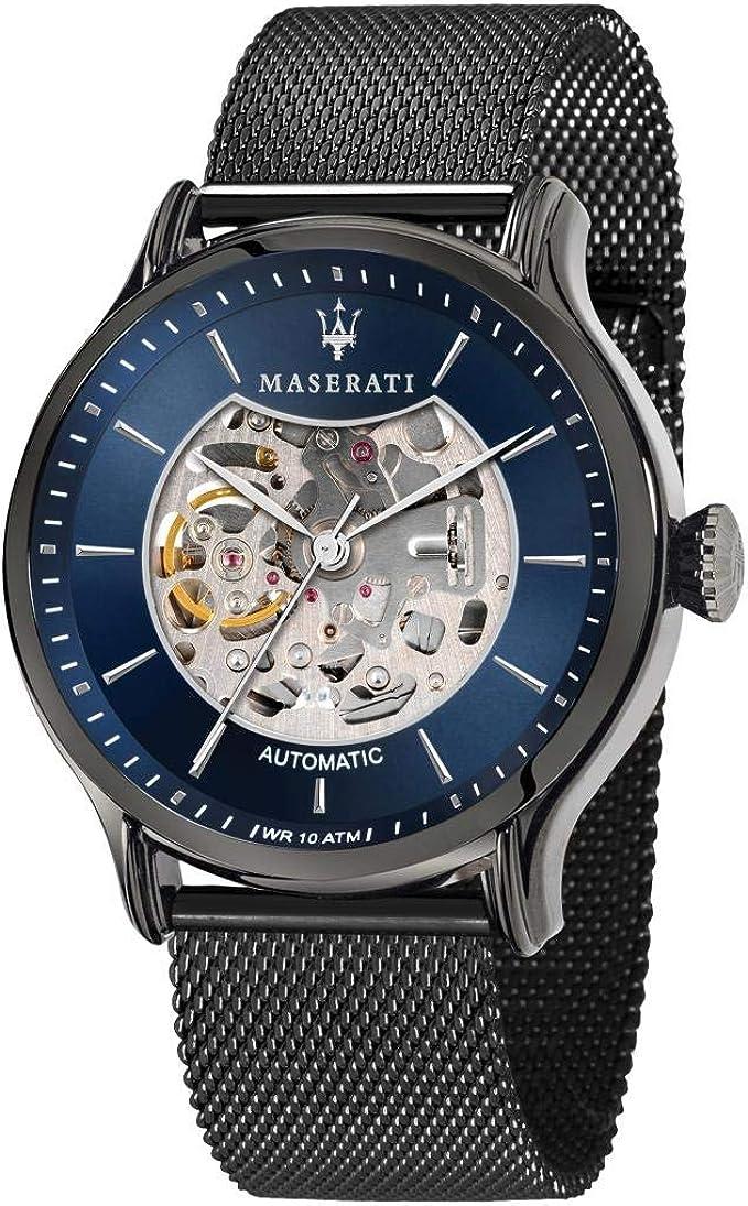 MASERATI Reloj Analógico para Hombre de Automático con Correa en Acero Inoxidable R8823118006: Amazon.es: Relojes