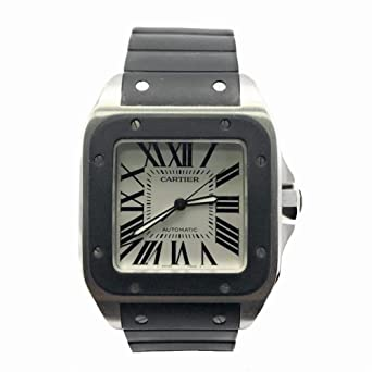 8c43eb1be Image Unavailable. Image not available for. Color: Cartier Santos 100 Swiss- Automatic Male Watch ...