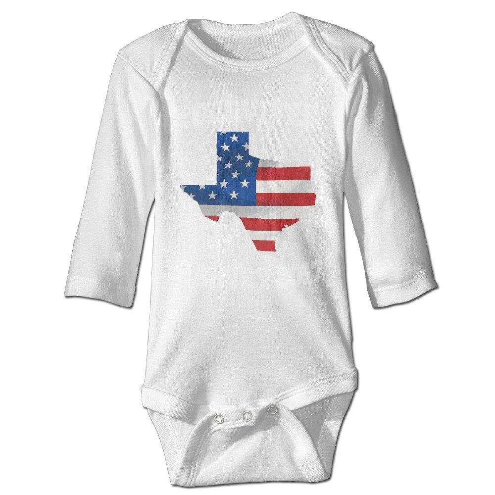 Stay Strong Houston Hurricane Harvey Survivor Baby Long Sleeve Bodysuits Romper