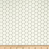 Riley Blake Bee Backgrounds Honeycomb Gray Fabric by The Yard