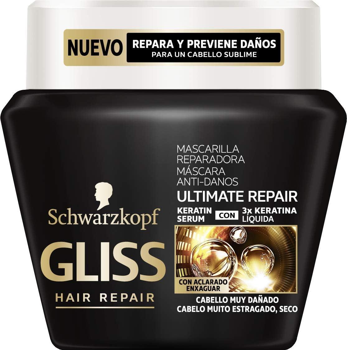 Gliss - Mascarilla Ultimate Repair para Cabellos Muy Dañados - 300ml - Schwarzkopf