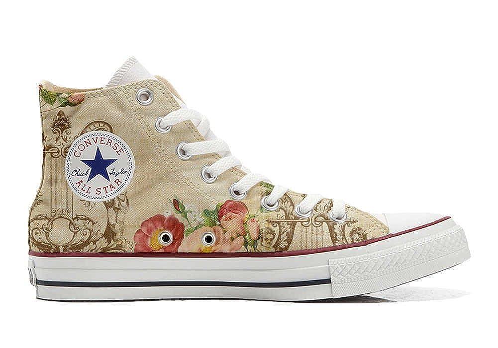 Converse All Star Cutomized - Personalisierte Schuhe (Handwerk Produkt) Floral Vintage -