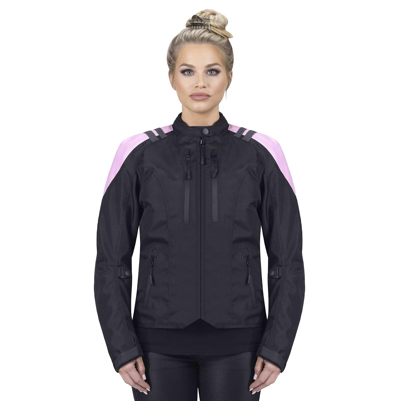 Viking Cycle Ironborn Women's Motorcycle Textile Jacket (Medium, Pink)