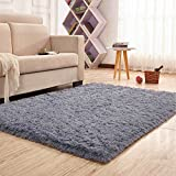 Bedroom Area Rugs Noahas Super Soft 4.5cm Thick Modern Shag Area Rugs Fluffy Living Room Carpet Comfy Bedroom Home Decorate Floor Kids Playing Mat 4 Feet by 5.3 Feet