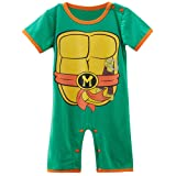 TMNT Michaelangelo Baby Toddler Boy Superhero Comic Romper Party Play Outfit.