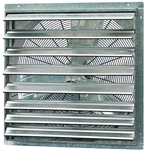 Iliving 30 Inch Single Speed Shutter Exhaust Fan, Wall-Mounted, 30