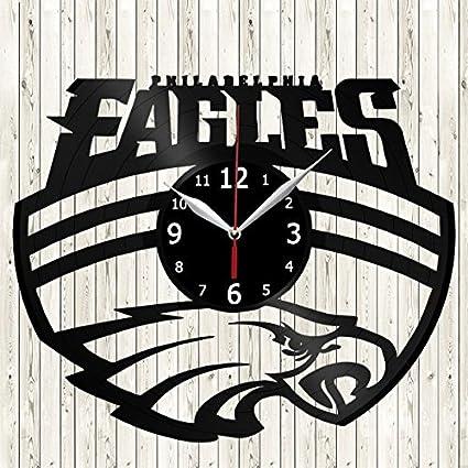 16755f58 Amazon.com: Philadelphia Eagles Vinyl Record Wall Clock Decor ...