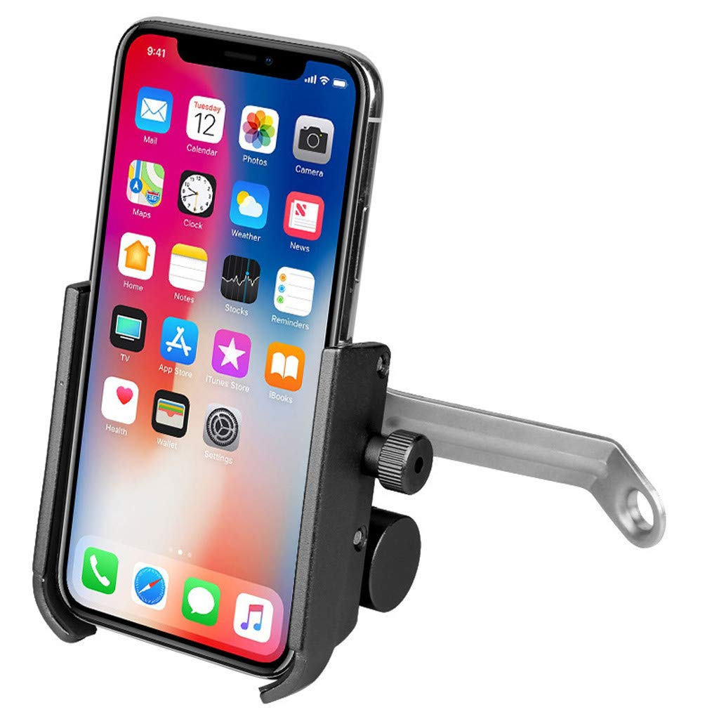 1KTon Bike & Motorcycle Smart Phone Holder Mount USB Charging With 2000mah Power Bank by 1KTon