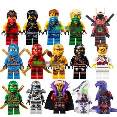 [15 Sets Skylor Kai Lloyd Cole Jay Zane Pythor Kapau Ninja Figures Lot Blocks Toy] (Monster High Costumes Walmart)
