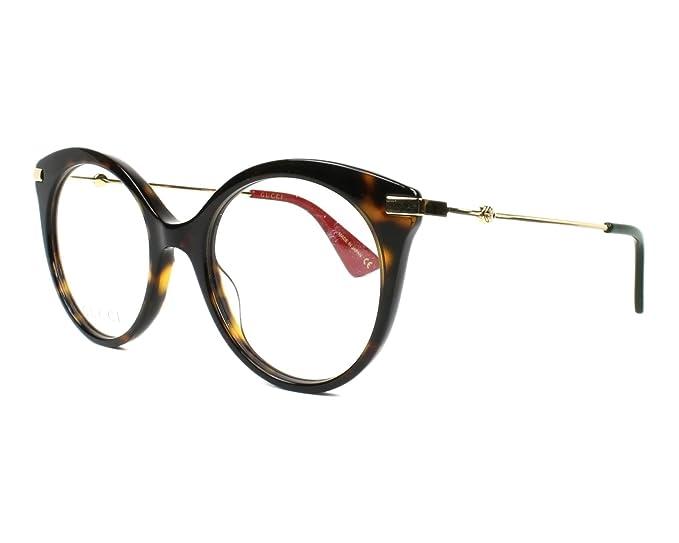 0909fc8336 Gucci GG0109O HAVANA GOLD women Eyewear Frames  Amazon.co.uk  Clothing